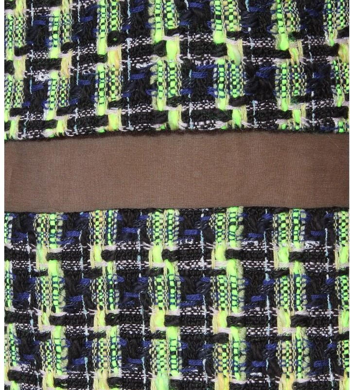 Erdem Dulcie tweed dress with organza silk insert