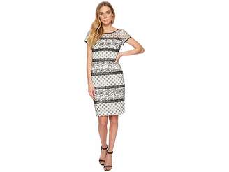 Adrianna Papell Twin Lace Cap Sleeve Sheath Women's Dress