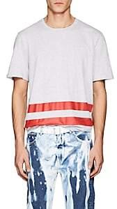 Helmut Lang RE-EDITION Men's Striped Cotton T-Shirt - Light Gray