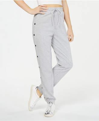 Material Girl Juniors' Side-Snap Jogger Pants