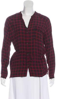 Humanoid Checkered Long Sleeve Blouse w/ Tags