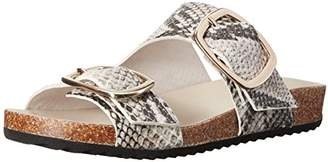 Rachel Zoe Women's Philly Snake Print Slide Sandal