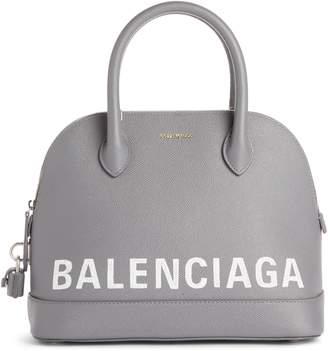 Balenciaga Ville Logo Leather Dome Satchel