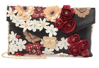 G Lish G-Lish Floral Applique Clutch