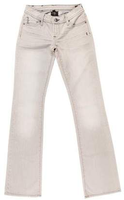 Genetic Los Angeles Low-Rise Straight-Leg Jeans w/ Tags