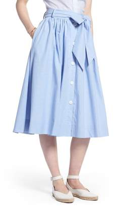 1901 Bow Tie Chambray Skirt (Regular & Petite)