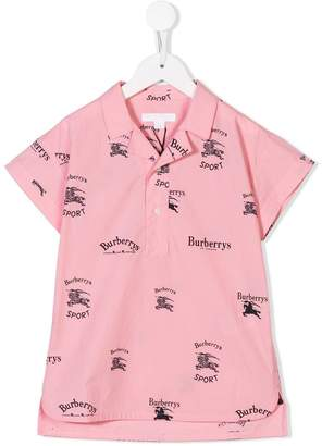 Burberry archive print polo shirt