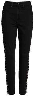 Good American Good Waist Hook & Eye Detail Ankle Skinny Jeans