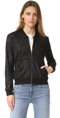 Ella Moss Faux Leather Bomber $198 thestylecure.com