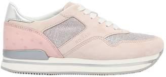 Hogan 50mm H222 Suede & Glitter Sneakers