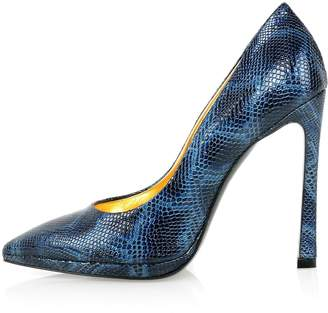 Kim Kwang - Python Effect Leather Pointy Pumps