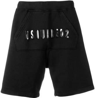 DSQUARED2 kangaroo pocket logo shorts