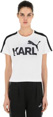 Puma Select Karl Cotton Jersey Cropped T-Shirt