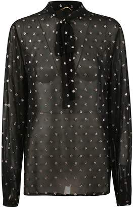 Saint Laurent See-through Embellished Blouse