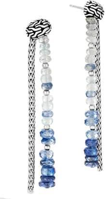 John Hardy Classic Chain Stone Drop Earrings
