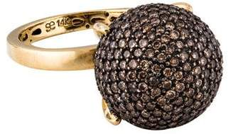 Sydney Evan 14K Diamond Ball Ring