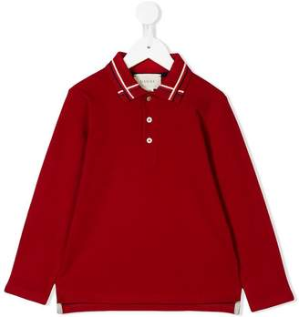Gucci Kids web detail polo shirt