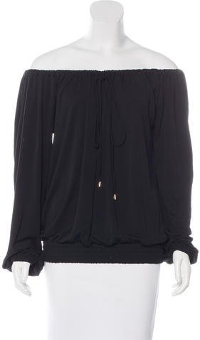 MICHAEL Michael Kors Michael Kors Collection Off-The-Shoulder Long Sleeve Top