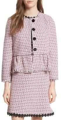 Kate Spade Tweed Peplum Jacket