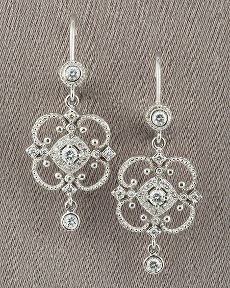 Penny Preville Open Scroll Diamond Earrings