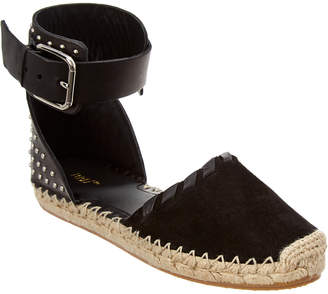 RED Valentino Studded Leather & Suede Ankle Strap Espadrille