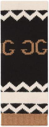 Gucci Wool scarf with mirrored GG