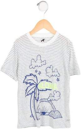Stella McCartney Girls' Striped Beach Print Top
