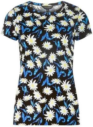Dorothy Perkins Womens Black Floral Print T-Shirt
