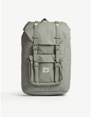 Herschel Light Grey Woven Little America Canvas Backpack