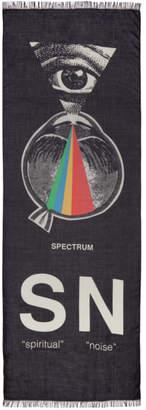 Undercover Black Spiritual Noise Graphic Scarf
