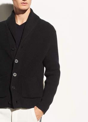 Vince Shawl Collar Cotton Cardigan