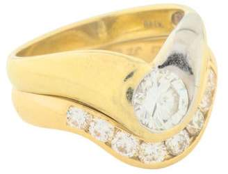Ring 18K Diamond Wedding Set