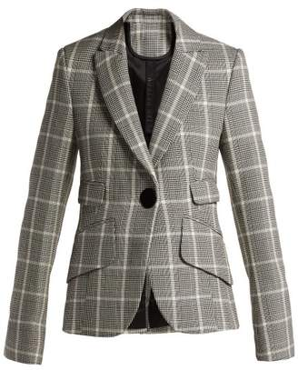 Petar Petrov Juno Checked Virgin Wool Blazer - Womens - Black White