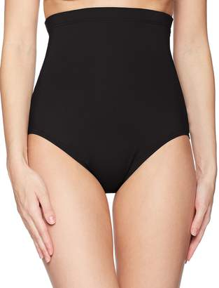 Anne Cole Women's Super High Waist Control Bikini Swim Bottom