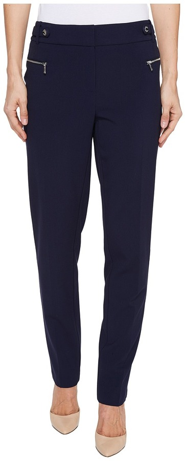 Calvin Klein Calvin Klein - Straight Leg Pants with Buckle and Zip Women's Casual Pants