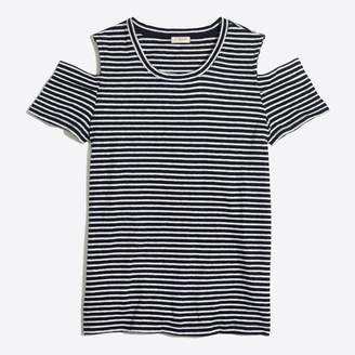 J.Crew Factory Striped peekaboo T-shirt