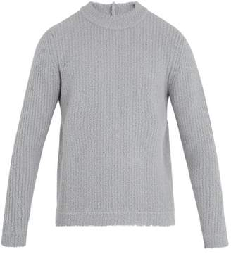 Craig Green Crew Neck Ribbed Wool Blend Knit Sweater - Mens - Grey