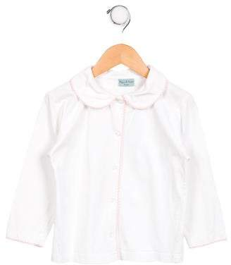 Papo d'Anjo Girls' Long Sleeve Button-Up Top