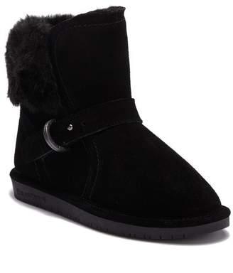 BearPaw Koko Buckle Strap Faux Fur & Genuine Sheepskin Lined Boot (Little Kid & Big Kid)