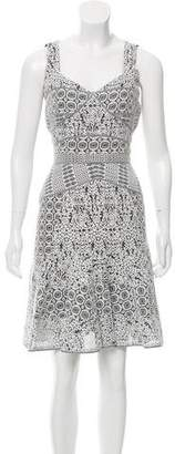 J. Mendel Lace Knee-Length Dress