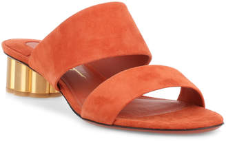 Salvatore Ferragamo Belluno 30 orange suede sandal