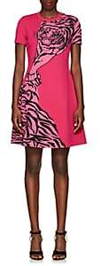 Valentino Women's Tiger-Pattern Rib-Knit Dress - Pink