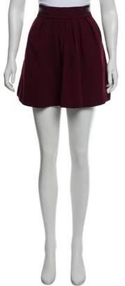 The Kooples Mini Leather-Trimmed Skirt