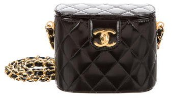 Chanel Patent Quilted Box Bag