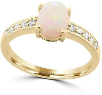 Effy 14K Yellow Gold Opal and Diamond Ring