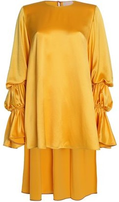 Roksanda Gathered Silk Satin-Crepe Tunic
