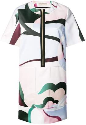 Emilio Pucci front zip T-shirt dress