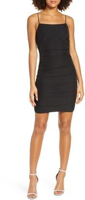 NSR Alex Ruched Body-Con Minidress