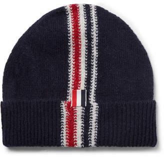 Thom Browne Striped Intarsia Wool And Mohair-Blend Beanie