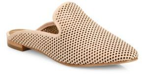 Frye Gwen Perforated Leather Mule Slides $198 thestylecure.com